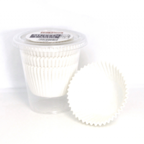 60 x Paper Baking Large MUFFIN Cup Cake Cases - Plain White